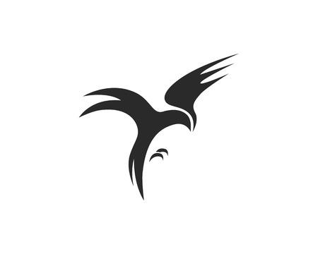 Ilustración de vector de plantilla de logotipo de pájaro