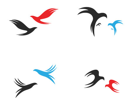bird fly sign abstract template icons app Illustration