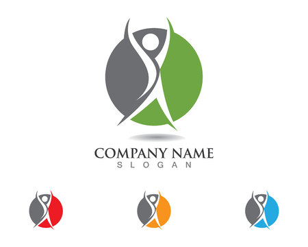 Health people success people care logo and symbols template