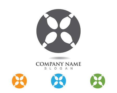 Foot print logo and symbols