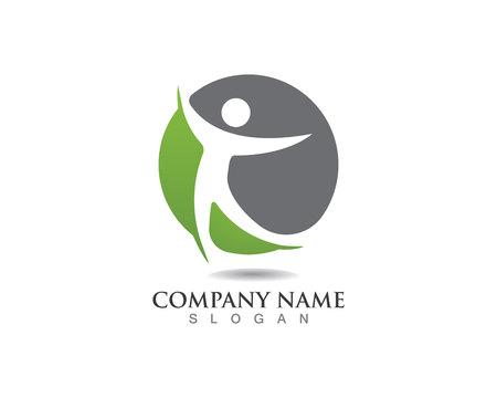 Health people success people care logo and symbols template Logó