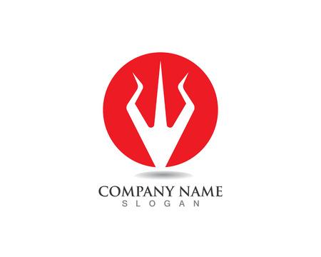 Magic trident logo and symbols template vector 向量圖像