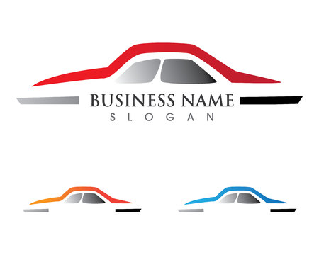 Car silhouette Vector template icons app