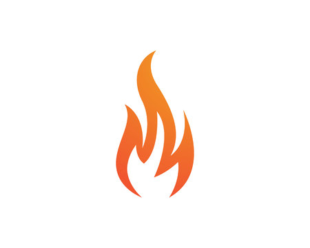 Fire vector icon logo  Çizim