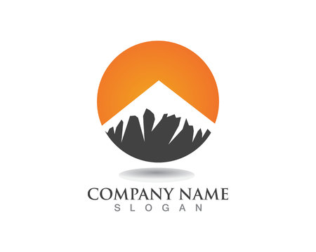 Mountain Business Template Vector Çizim