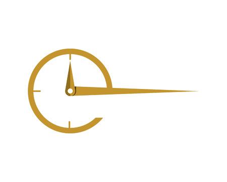 business clock logo template icon Иллюстрация
