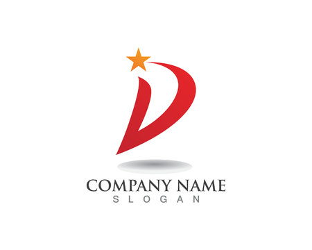 D letters business logo and symbols template Logo