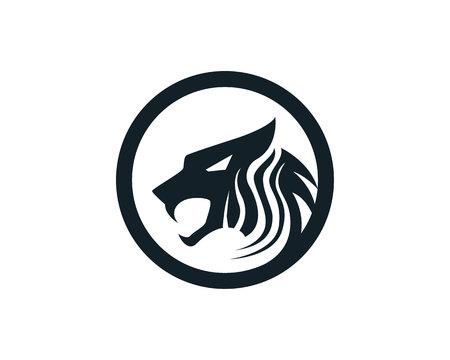 Tiger head logo mascot white background Illustration