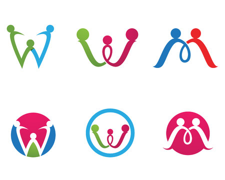Adoption and community Logo template vector icon