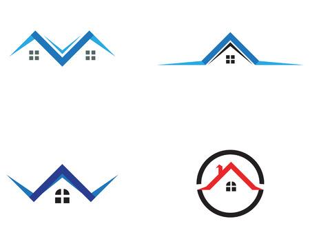 ホームビルとシンボルアイコンテンプレート