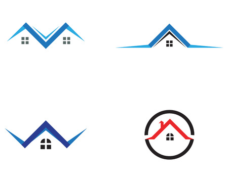 home buildings and symbols icons template Illustration