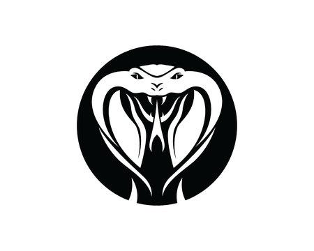 viper snake logo design element  danger snake icon. viper symbol 矢量图像