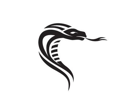 viper snake logo design element  danger snake icon. viper symbol Illustration