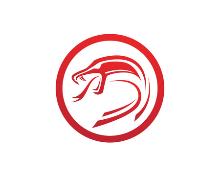Viper Schlange Logo Design Element Gefahr Schlange Symbol. Vipersymbol Logo