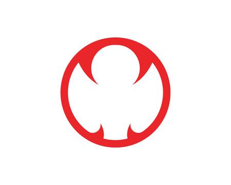 Disegno del modello logo Cobra in un triangolo. Illustrazione vettoriale.