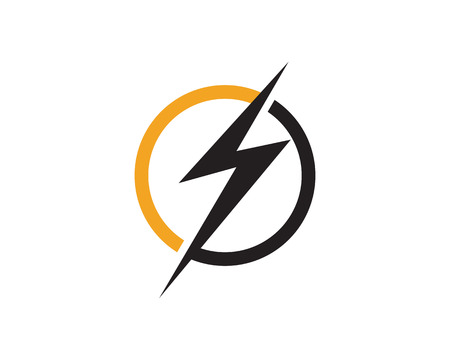 Flash thunder bolt logo vector