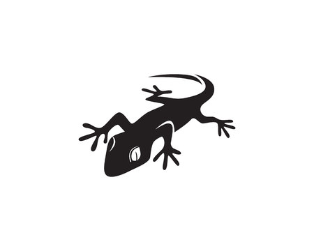 Lizard Chameleon Gecko Silhouette black Illustration