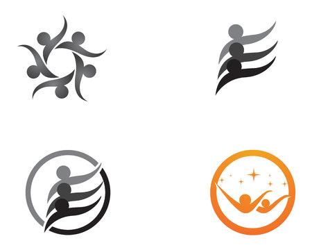 Community people group logo and symbols