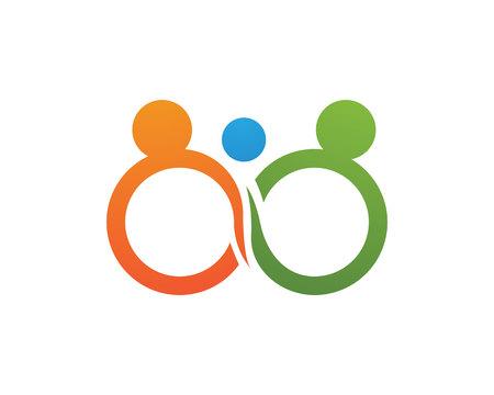 Infinity adoption logo and symbols vector template app