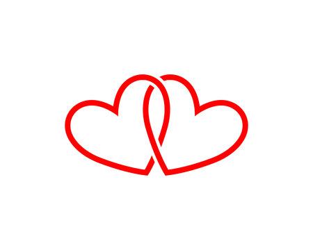 Love adoption baby logo and symbols vector