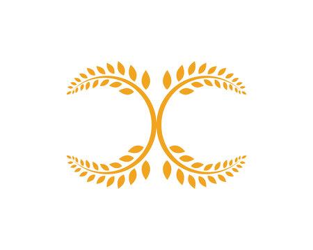 Agriculture wheat Logo Template logo vector icon design Stock Illustratie