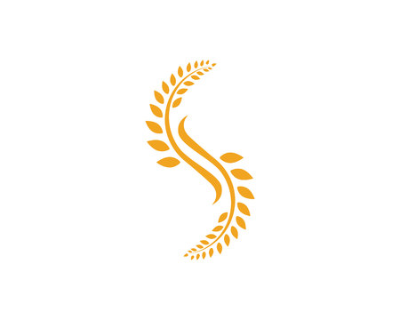 Agriculture wheat Logo Template logo vector icon design Çizim