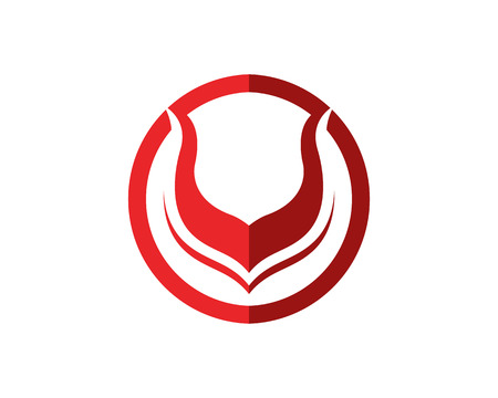 Bull horn logo symbols template icons app
