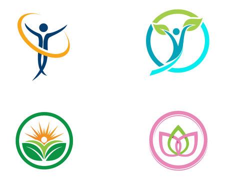 Health family care therapy logo symbols nature
