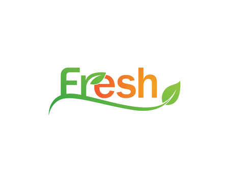 Fresh logo vector icon template