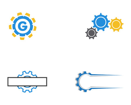 Gear Logo Template vector icon illustration 일러스트