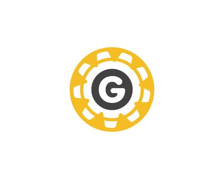 Gear Logo Template vector icon illustration Illusztráció
