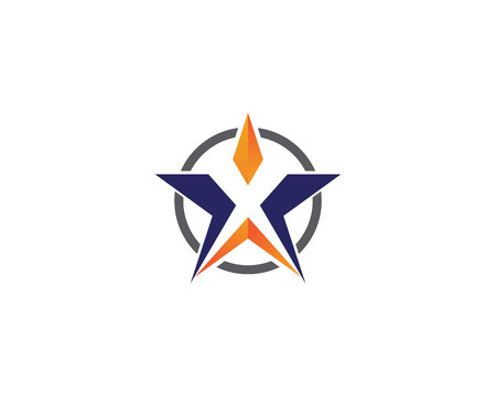 Star logo template vector icon illustration design 向量圖像