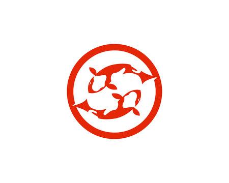 logotipo de peces koi y plantillas vector ilustración Logos