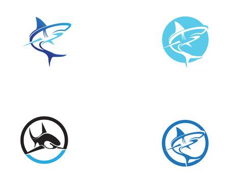 tiburón animales de los animales símbolos vector logo Logos