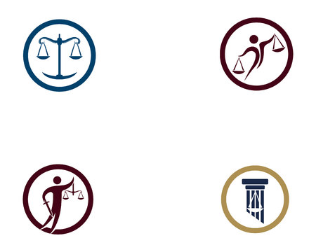 law Firm logo and symbols vector template Illustration