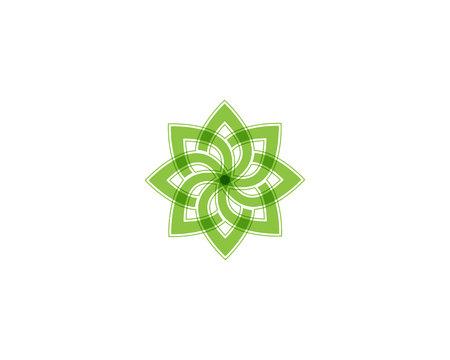 Baumblatt-Vektor-Symbol Illustrations-Entwurfsvorlage