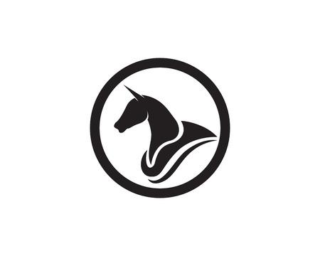 Pferd Logo Vorlage Vektor