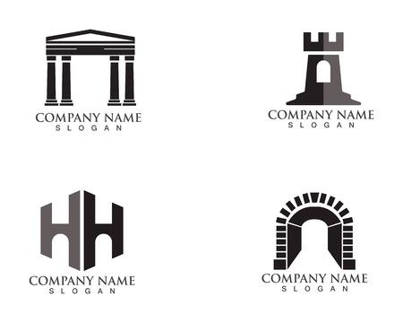 fortress logo  and symbols black vector