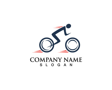 Bicycle. Bike icon vector. Cycling concept. Sign for bicycle path Isolated on white background. Stock Illustratie
