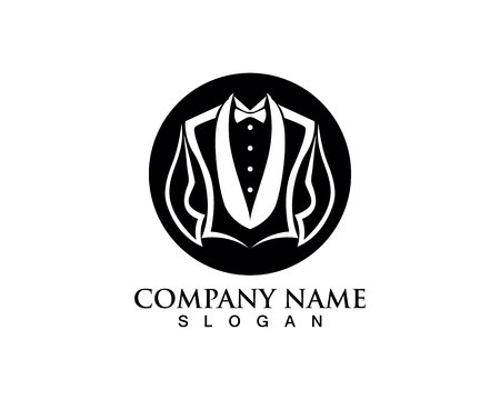 Tuxedo logo and symbols black icons template