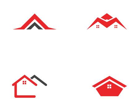 ホームビルのロゴとシンボルアイコンテンプレート