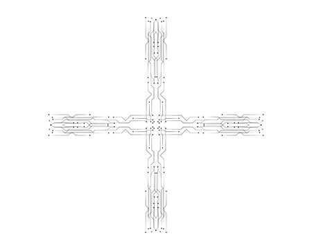 circuit illustration vector template