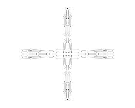 circuit illustration vector template Illustration