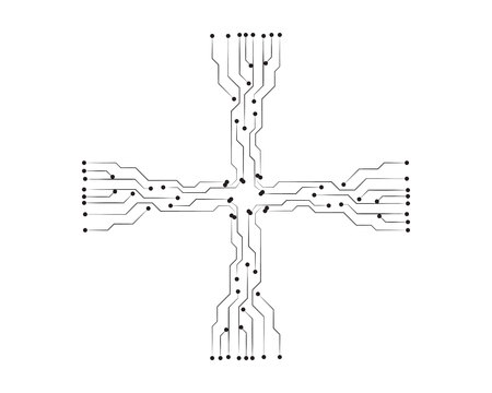 circuit illustration vector template Vektorové ilustrace