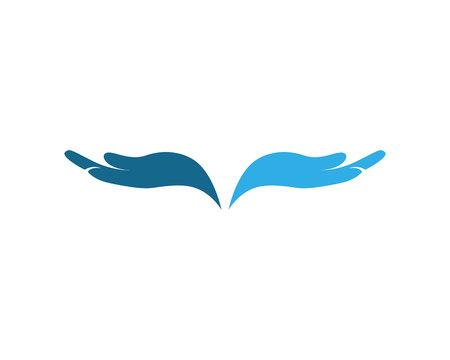 Hand Care Logo Template vector icon Business Logo