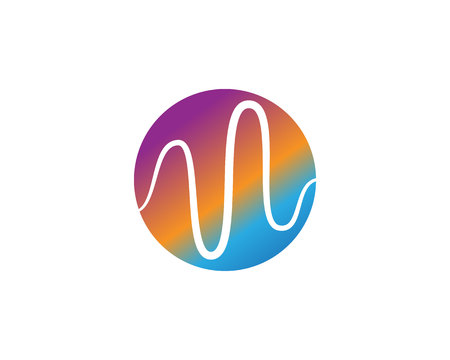 sound wave ilustration logo and vector icon template