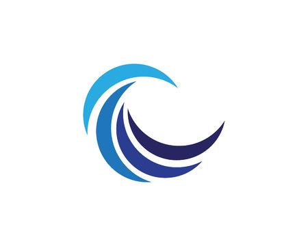 círculo de círculo logotipo y el icono de la plantilla de símbolos