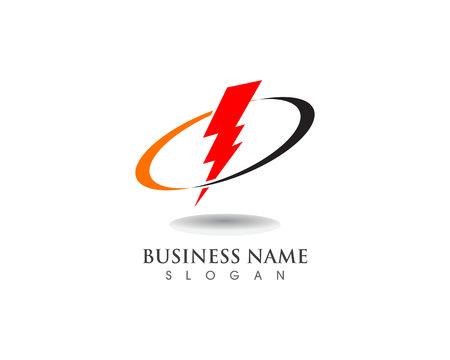 lightning thunderbolt electricity vector logo