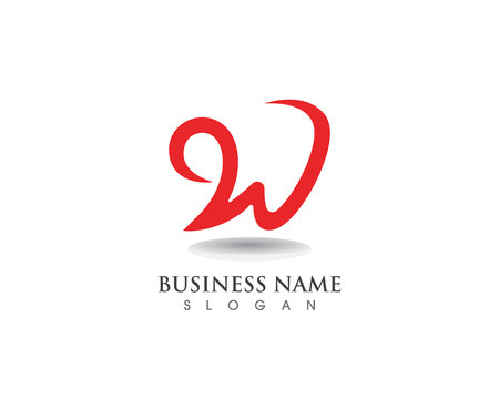 W letters business logo and symbols template Stock fotó - 106133504
