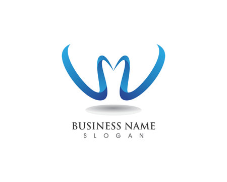 W letters business logo and symbols template Ilustracja